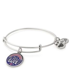 NEW ALEX and ANI All You Need is Love Bangle